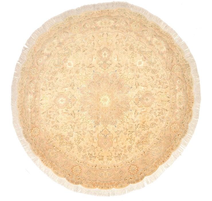 6' 7 x 6' 7 Tabriz Persian Round Rug