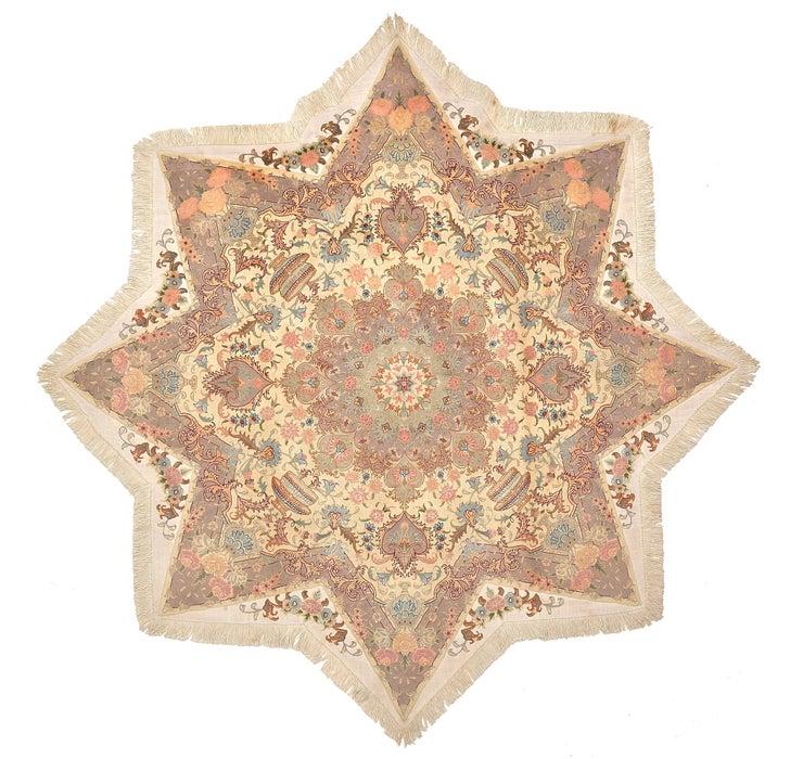 200cm x 200cm Tabriz Persian Octagon ...