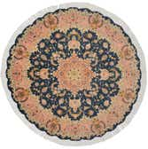 4' 11 x 4' 11 Tabriz Persian Round Rug thumbnail
