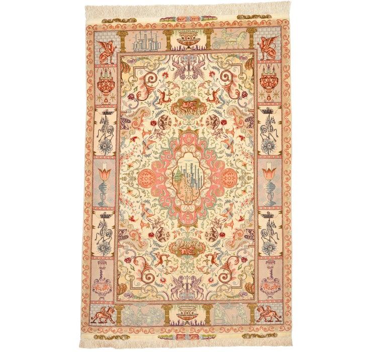 105cm x 155cm Tabriz Persian Rug
