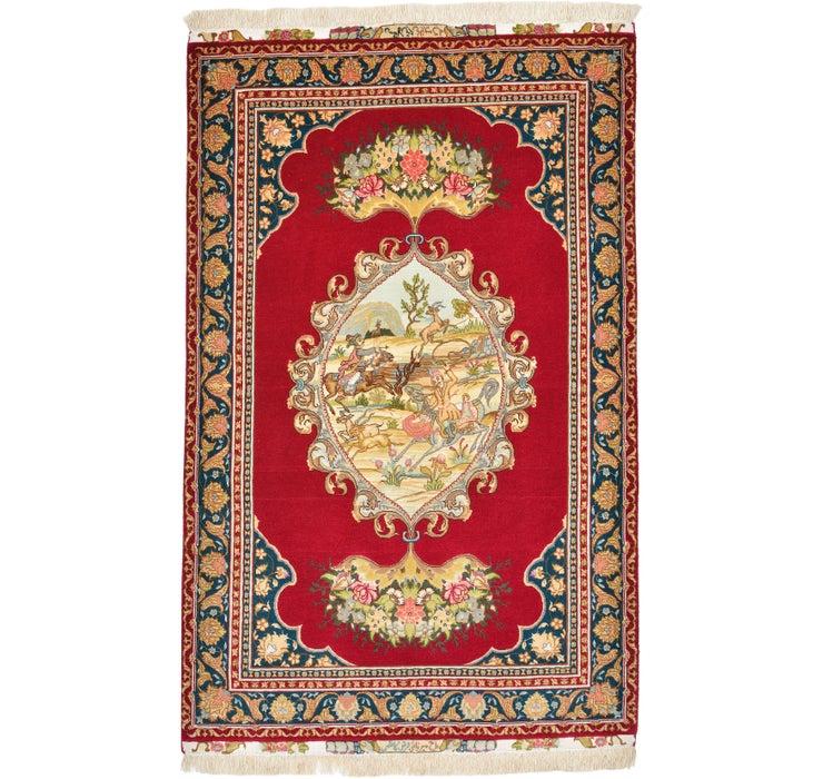 102cm x 155cm Tabriz Persian Rug