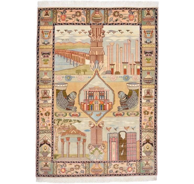 105cm x 147cm Tabriz Persian Rug