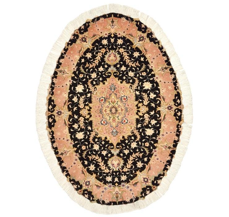 3' 3 x 4' 8 Tabriz Persian Oval Rug