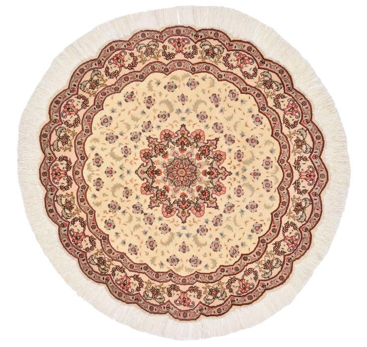 3' 3 x 3' 3 Tabriz Persian Round Rug