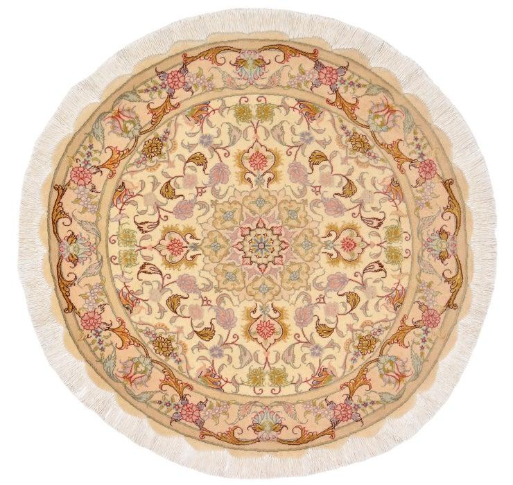 3' 2 x 3' 2 Tabriz Persian Round Rug