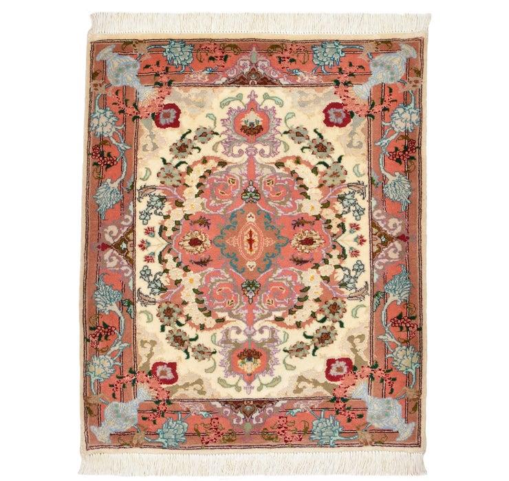 65cm x 75cm Tabriz Persian Square Rug