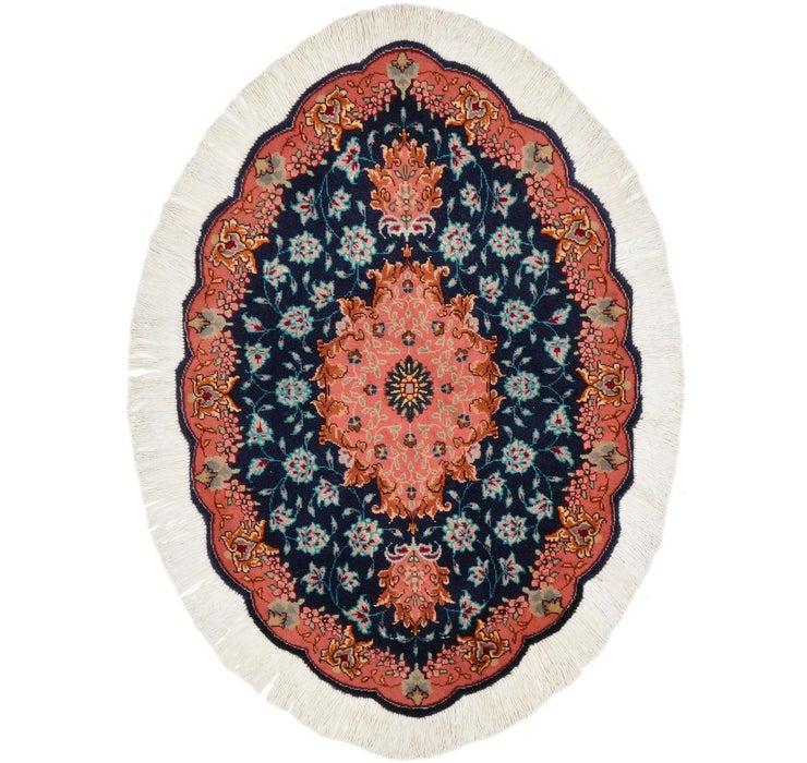 58cm x 85cm Tabriz Persian Oval Rug