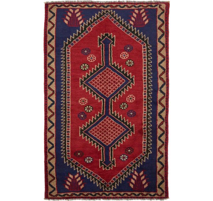 4' 7 x 7' 9 Shiraz Persian Rug