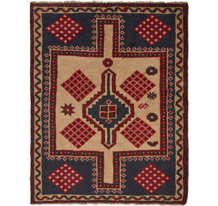 4' 10 x 6' 2 Shiraz Persian Rug