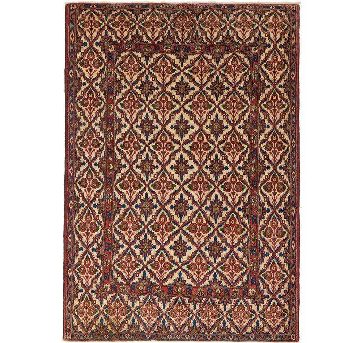 4' 9 x 6' 8 Senneh Persian Rug