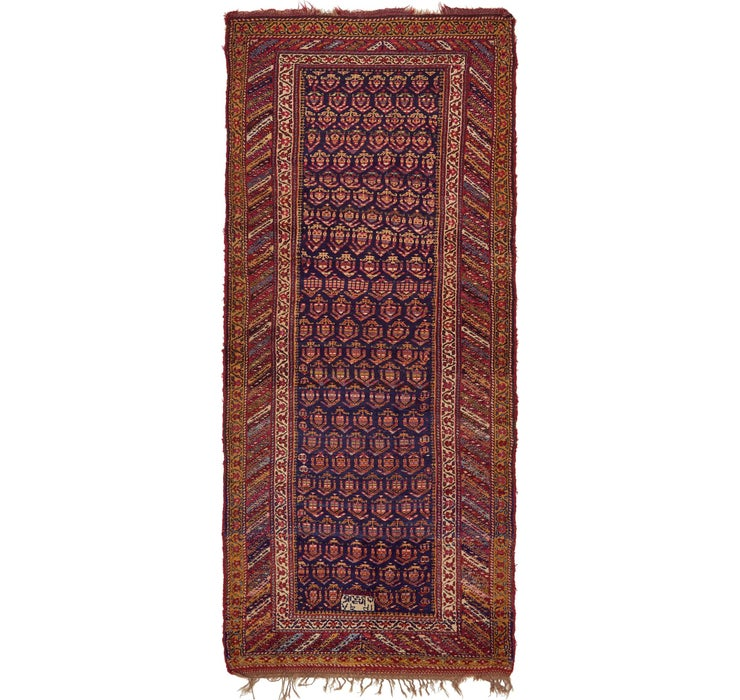 Image of 152cm x 345cm Shiraz Persian Runner Rug