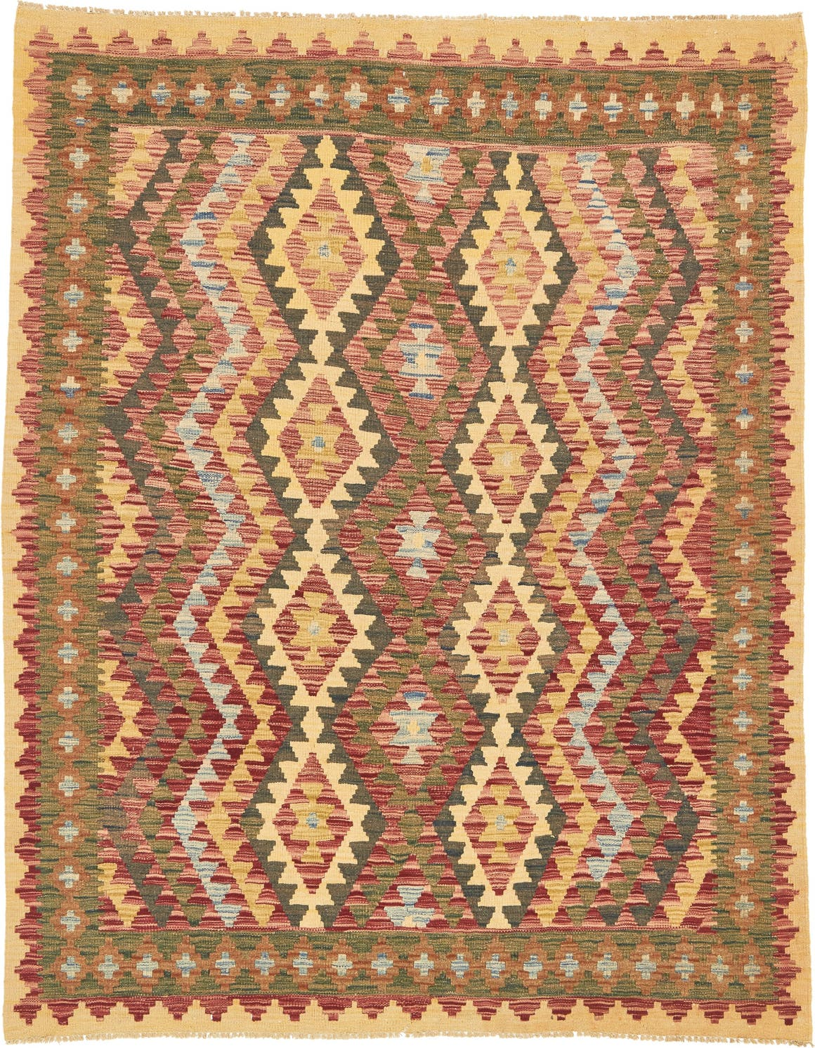 4' 10 x 6' 3 Kilim Maymana Rug main image