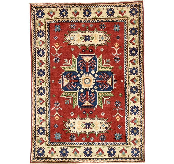 6' 2 x 8' 9 Kazak Oriental Rug