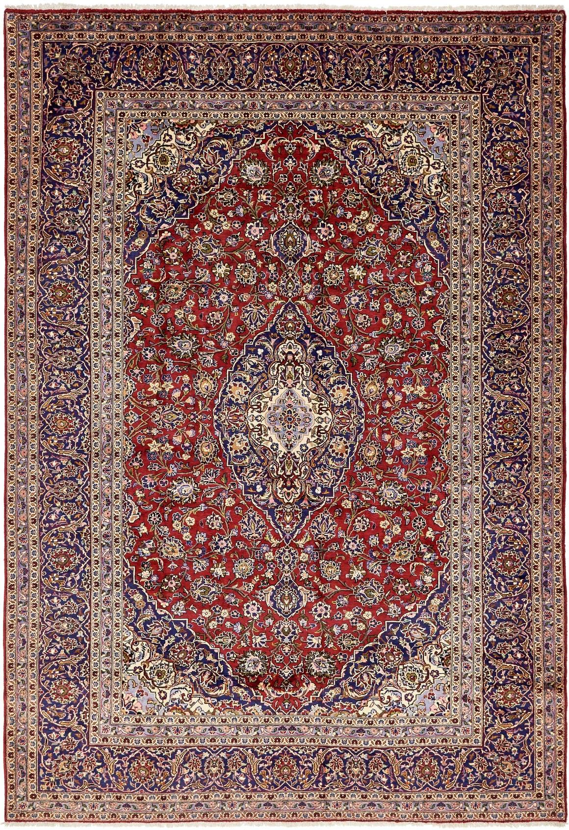 9' 8 x 13' 10 Kashan Persian Rug main image