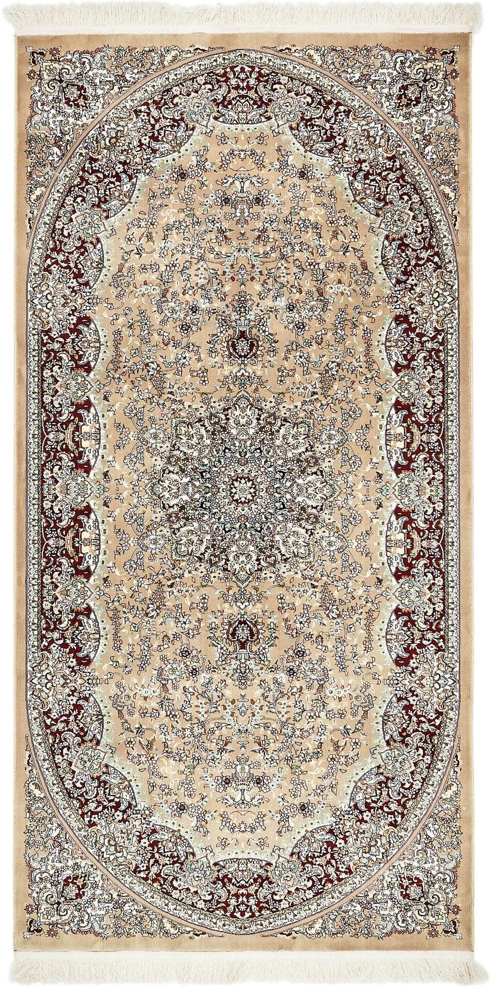 4' 4 x 9' Isfahan Design Rug main image