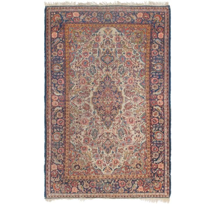 135cm x 208cm Kashan Persian Rug