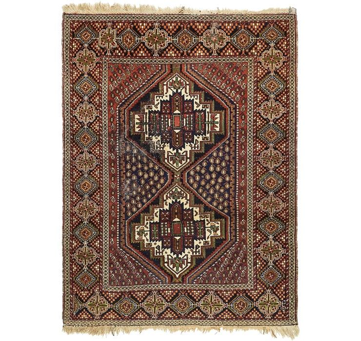 4' 3 x 5' 7 Shiraz Persian Rug