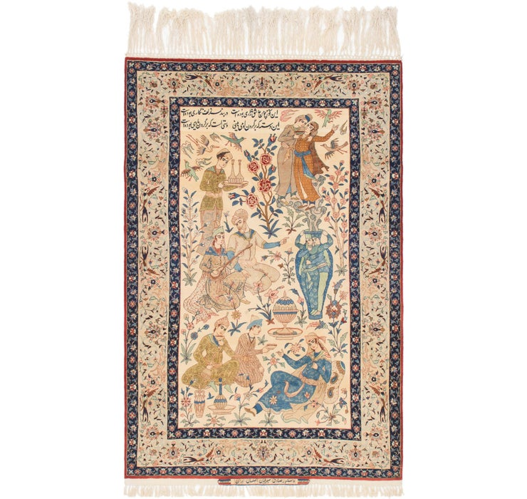 117cm x 188cm Isfahan Persian Rug