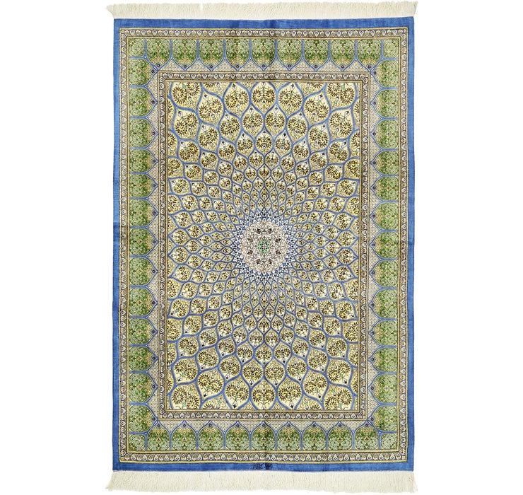4' 4 x 6' 6 Qom Persian Rug