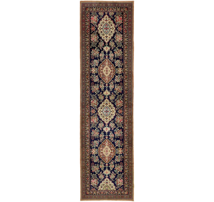 3' 3 x 12' 8 Qom Persian Runner Rug