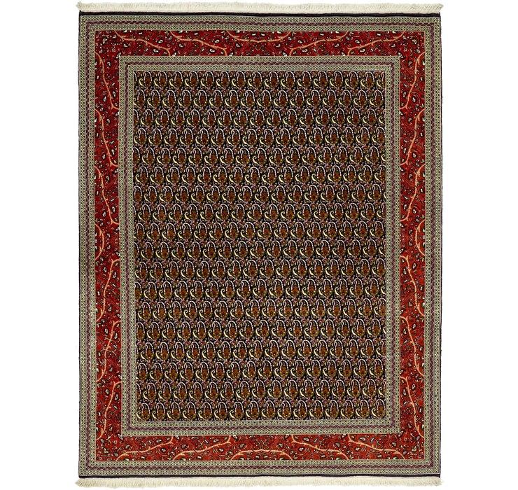 5' x 6' 4 Qom Persian Rug