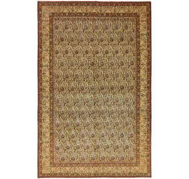 Image of 7' 7 x 11' 8 Qom Persian Rug