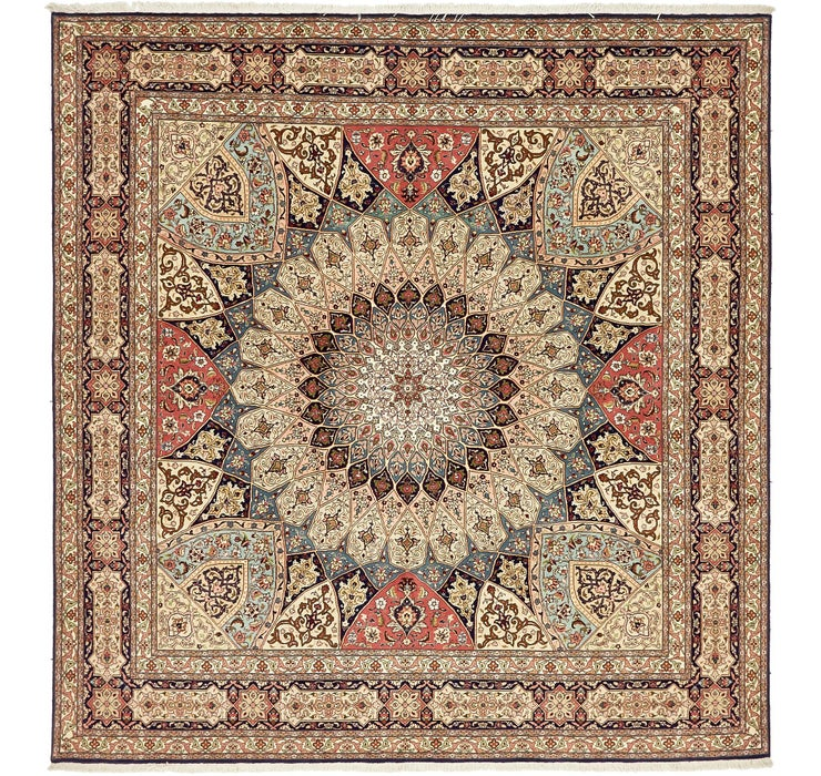 250cm x 260cm Tabriz Persian Square Rug