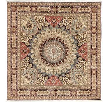 8' 2 x 8' 6 Tabriz Persian Square Rug main image