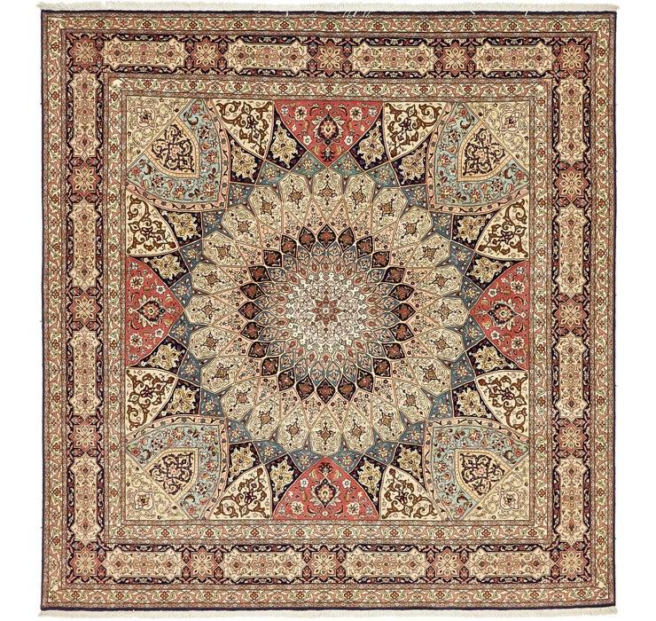 Image of 250cm x 260cm Tabriz Persian Square Rug