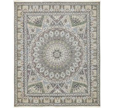 6' 7 x 8' Nain Persian Square Rug main image