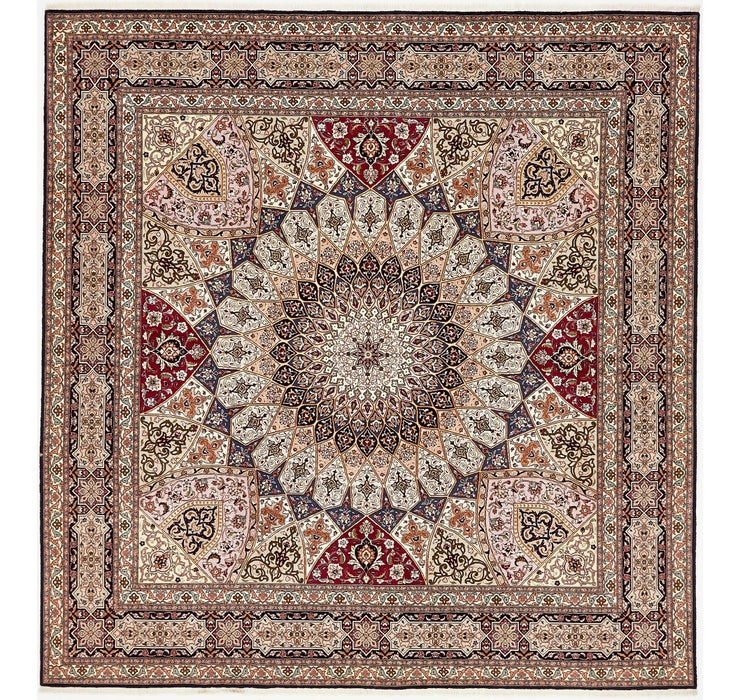 8' 2 x 8' 5 Tabriz Persian Square Rug