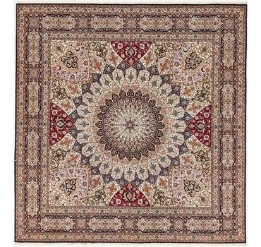 8' 2 x 8' 5 Tabriz Persian Square Rug main image