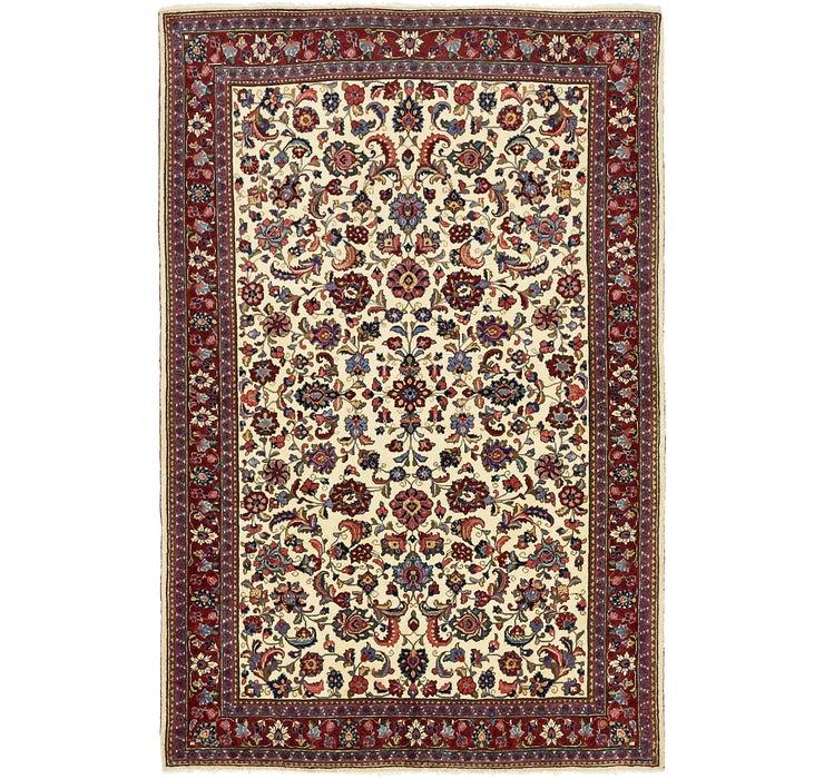 4' 3 x 6' 4 Kashan Persian Rug