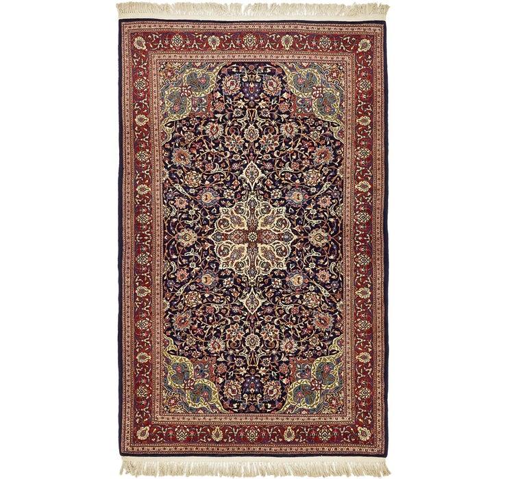 4' 4 x 7' 2 Kashan Persian Rug