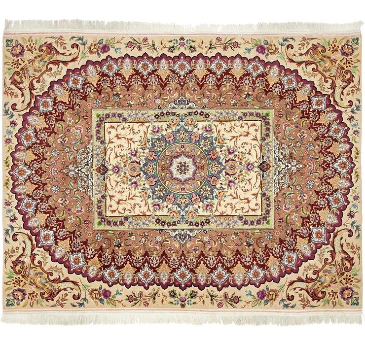 152cm x 195cm Tabriz Persian Square Rug