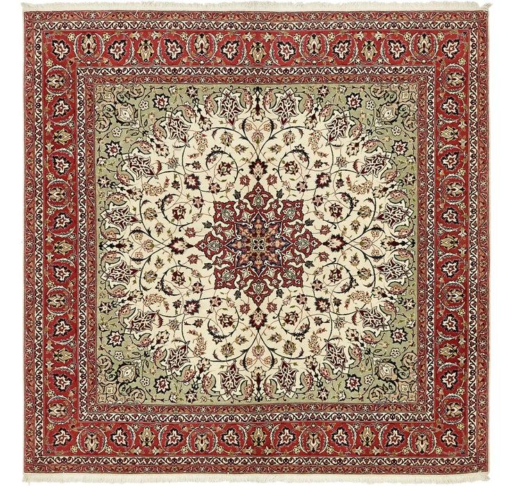 198cm x 203cm Tabriz Persian Square Rug