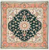5' x 5' 1 Tabriz Persian Square Rug thumbnail