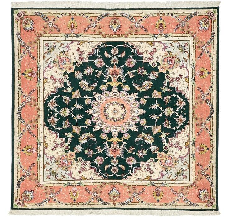 5' x 5' 1 Tabriz Persian Square Rug