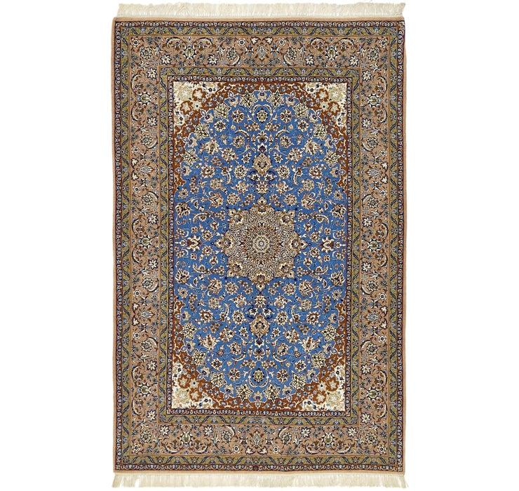 5' x 7' 10 Isfahan Persian Rug