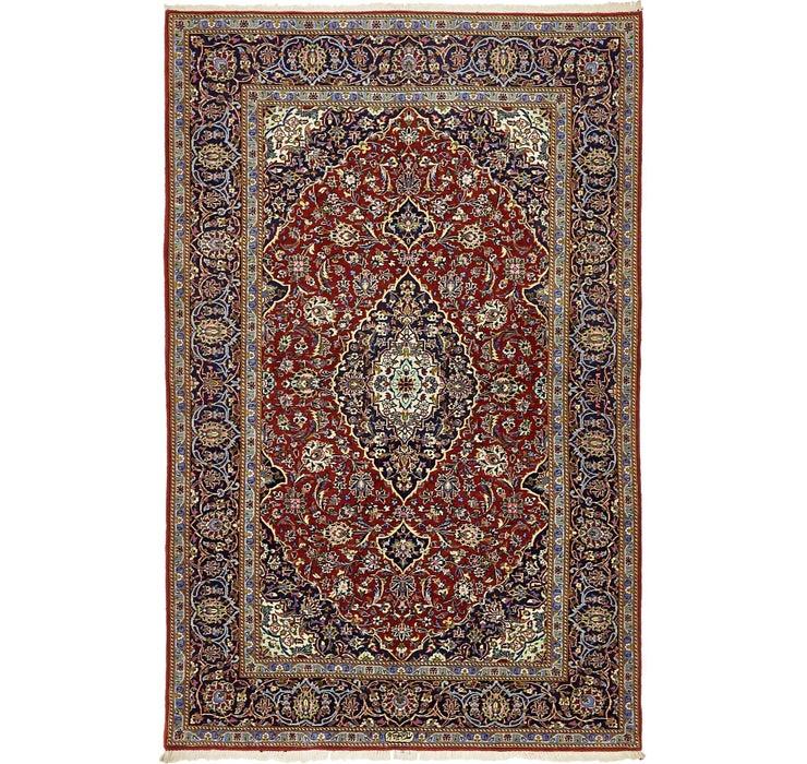 142cm x 218cm Kashan Persian Rug