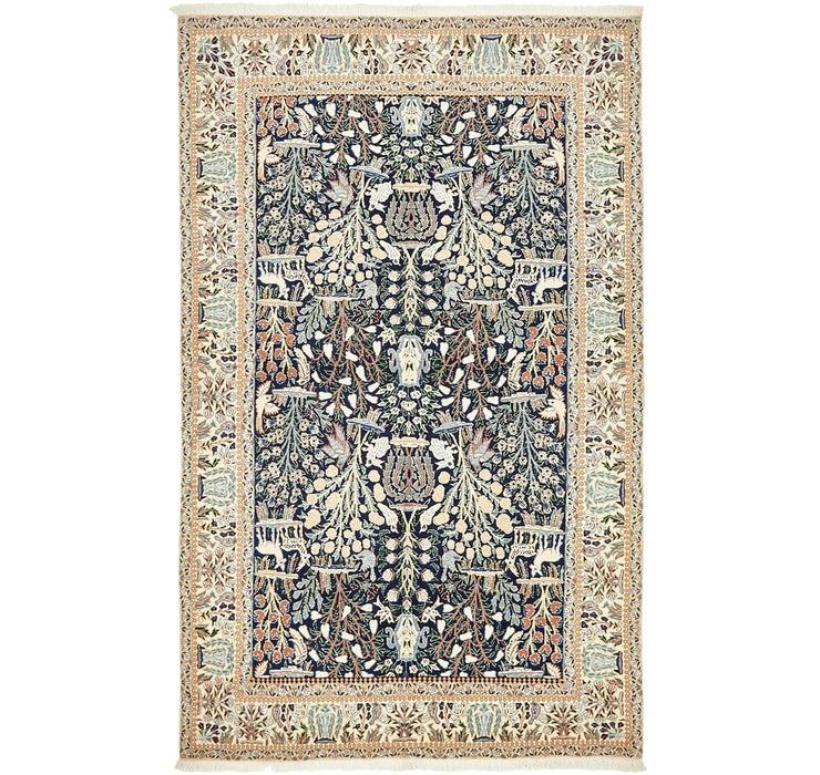 4' 3 x 6' 9 Nain Persian Rug