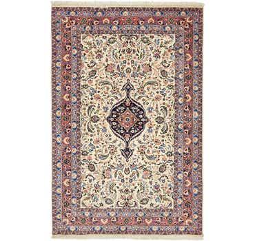 Image of 4' 6 x 6' 10 Yazd Persian Rug