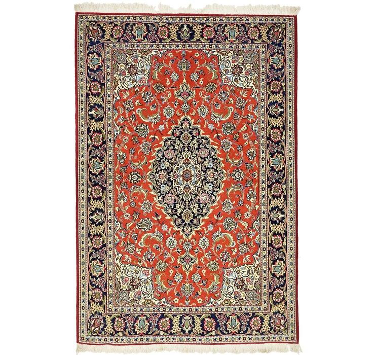 4' 6 x 6' 8 Qom Persian Rug
