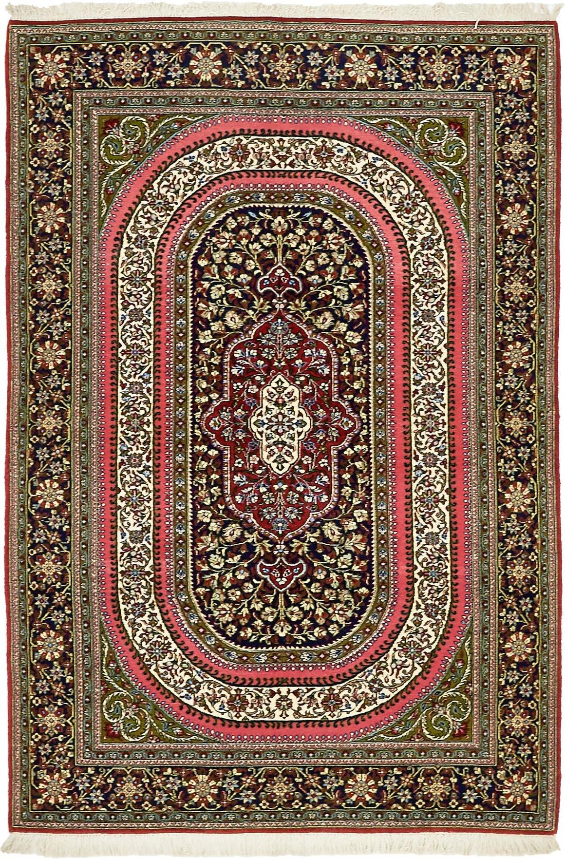 4' 7 x 6' 10 Qom Persian Rug main image