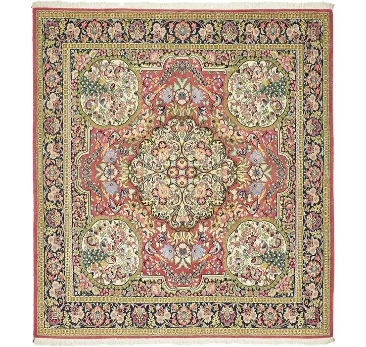 195cm x 213cm Qom Persian Square Rug