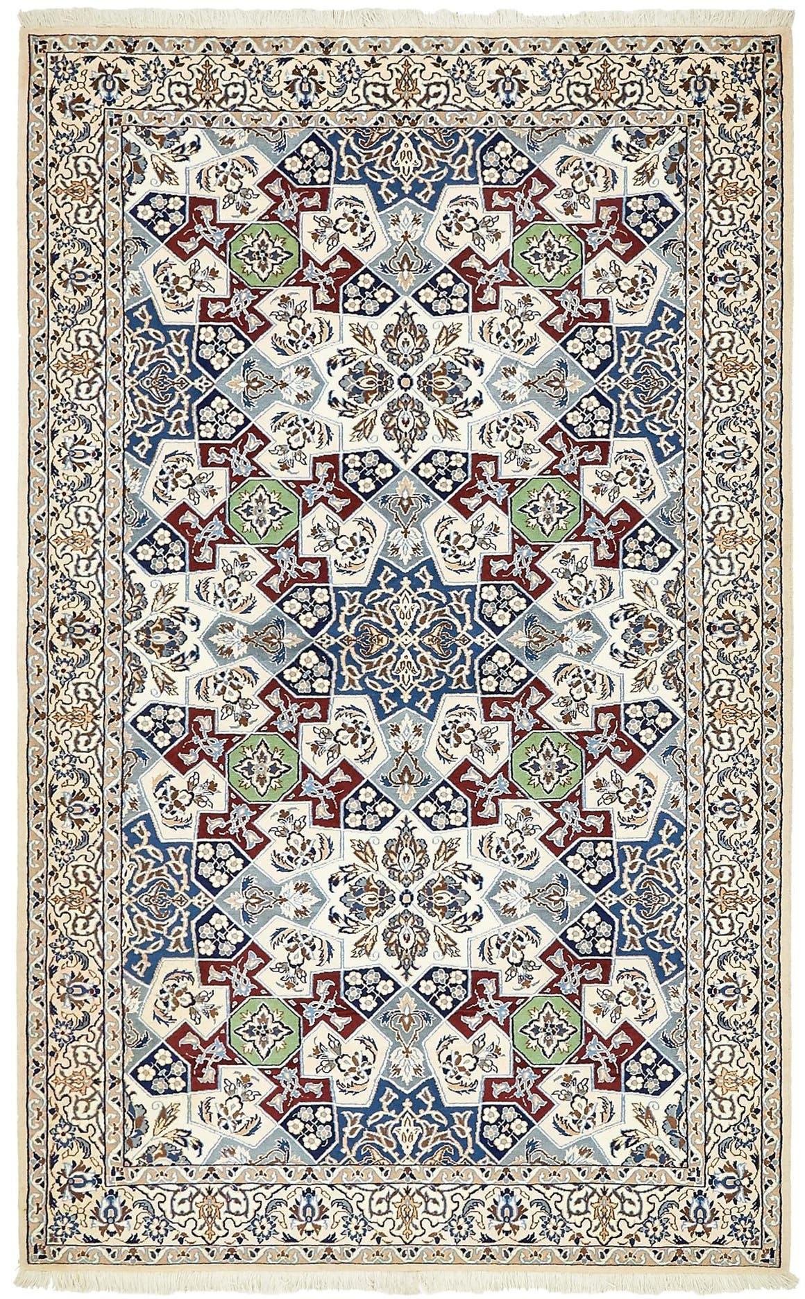 4' 6 x 7' 4 Nain Persian Rug main image