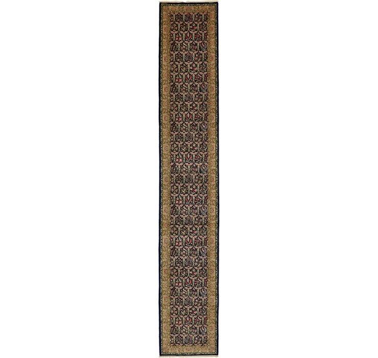 102cm x 617cm Qom Persian Runner Rug