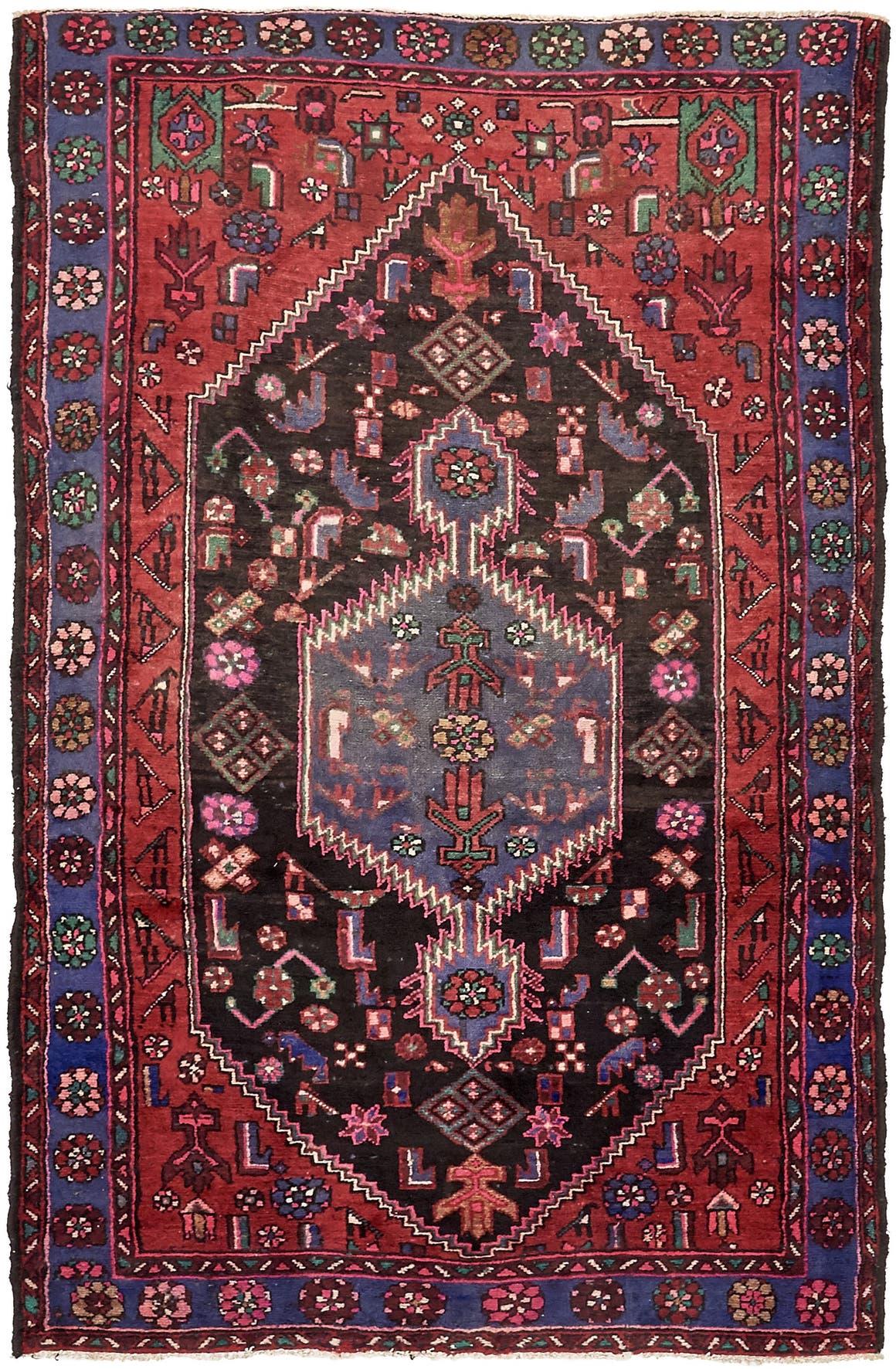 4' 9 x 7' 6 Khamseh Persian Rug main image