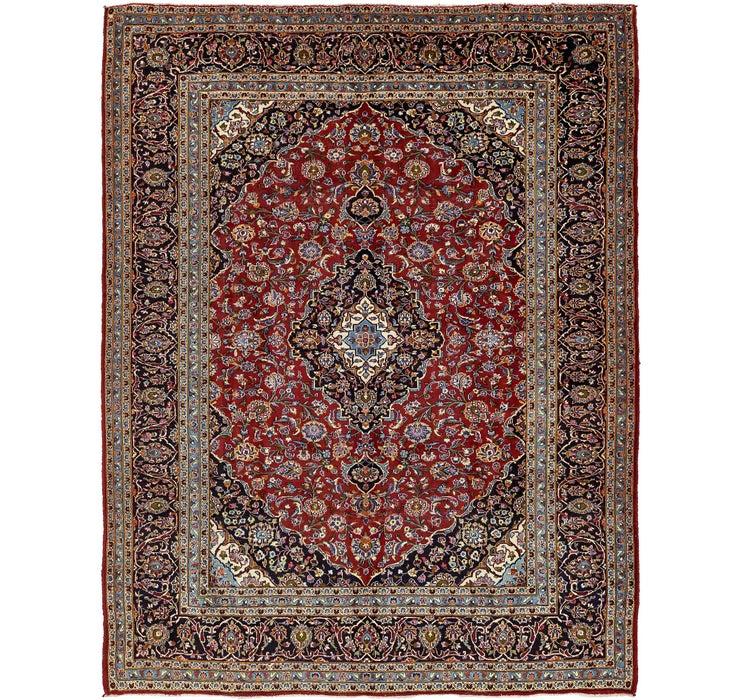 9' 8 x 12' 6 Kashan Persian Rug