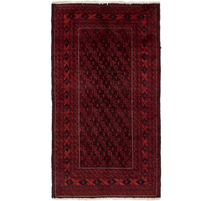 3' 5 x 6' 2 Afghan Ersari Rug